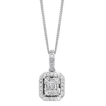 Time Square Diamond Pendant