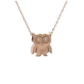 Diamond Owl Pendant