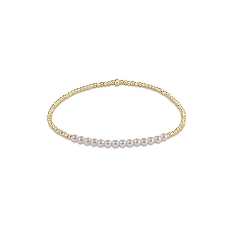 ENewton Design Bliss 2mm Bead Bracelet - Pearl & Gold