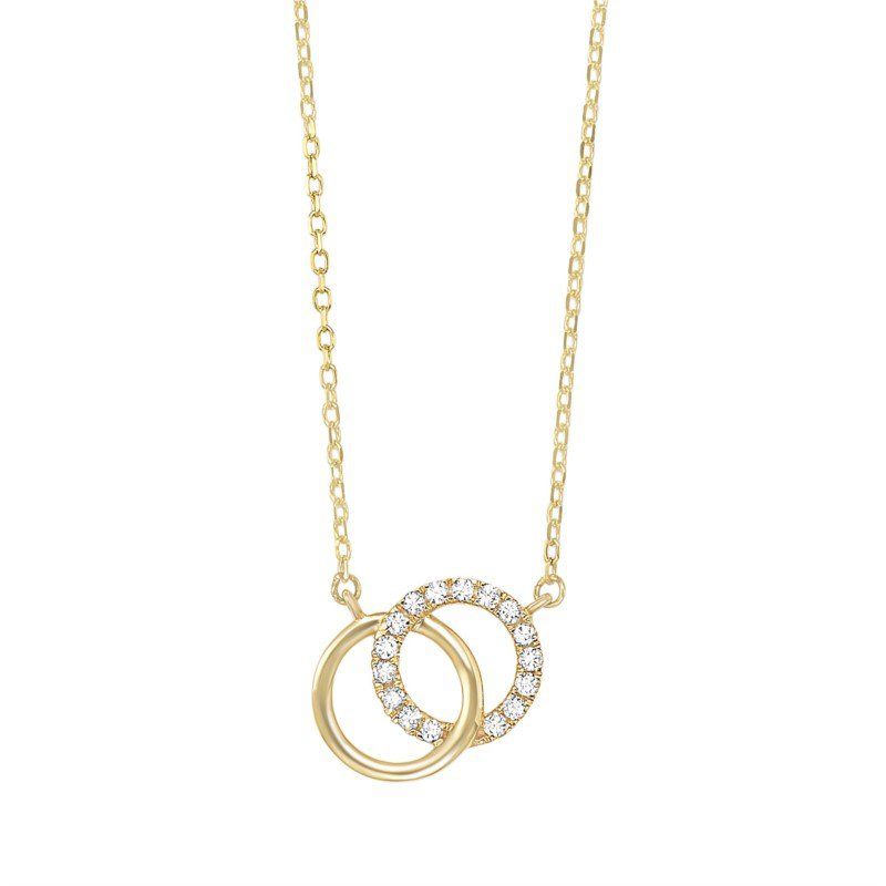 Kelley Collection  Diamond Circle Necklace