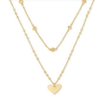 Ari Heart Multi Strand in Gold