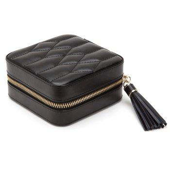 Caroline Zip Travel Jewelry Box - Black