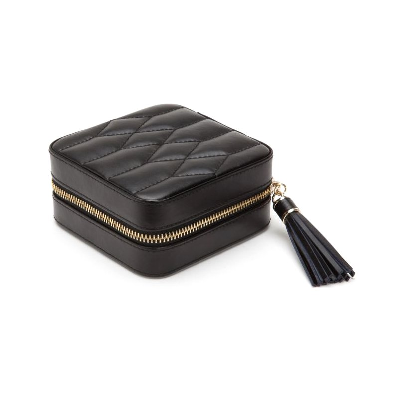 WOLF DESIGNS Caroline Zip Travel Jewelry Box - Black