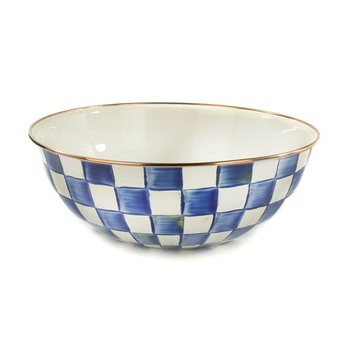 Royal Check Enamel Everyday Bowl - Extra Large