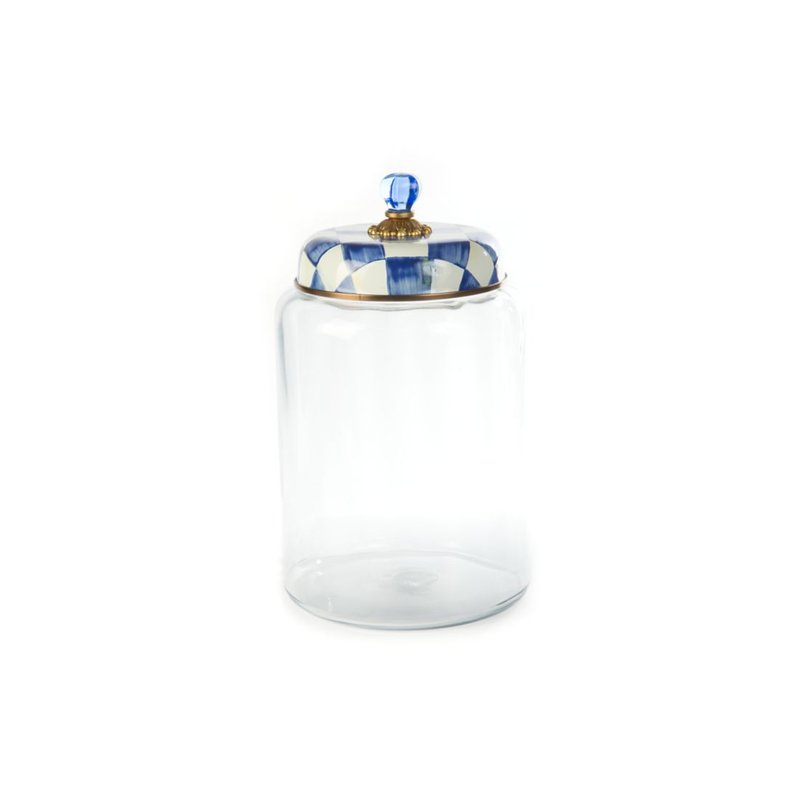 MacKenzie-Childs Royal Check Storage Canister - Biggest