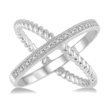 Diamond 'X' Ring