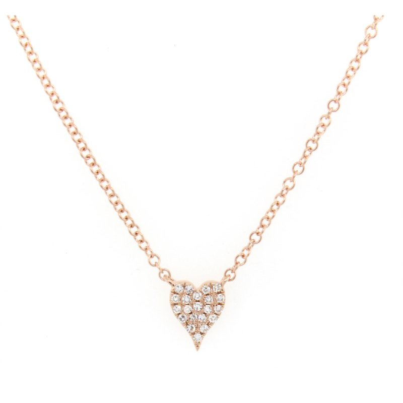 Kelley Collection  Diamond Heart Necklace