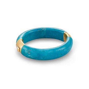 Cass Statement Bracelet in Teal Howlite