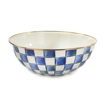 Royal Check Enamel Everyday Bowl - Extra Large