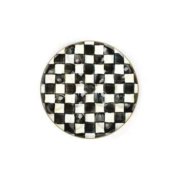 Courtly Check Enamel Egg Plate
