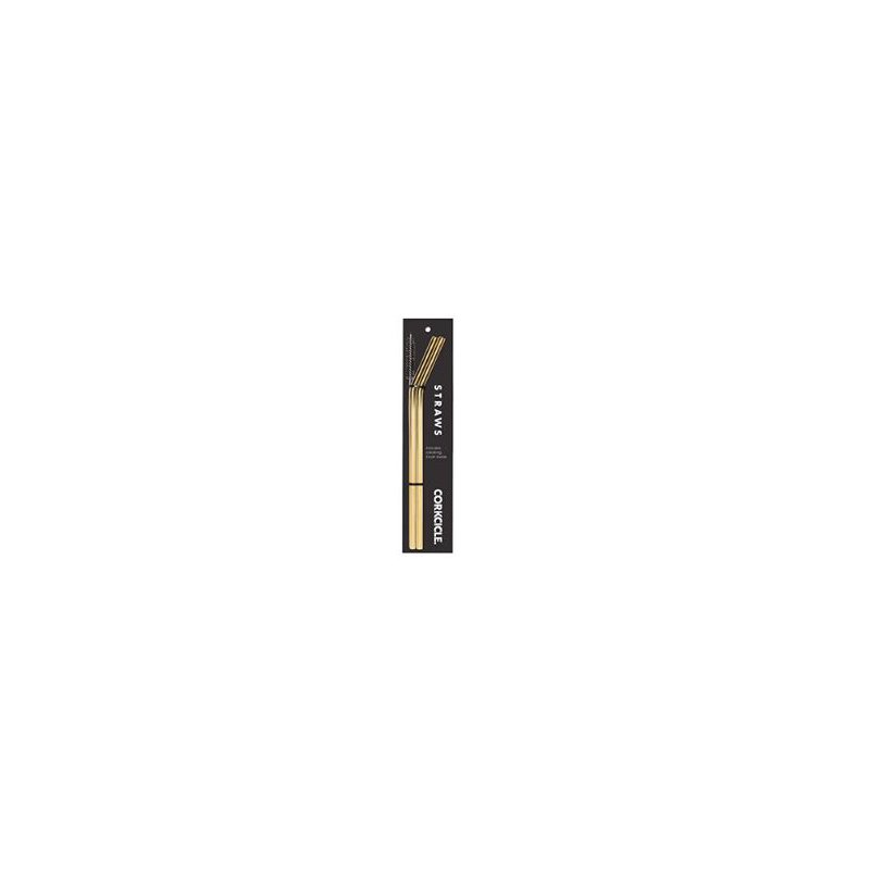 Corkcicle Gold Tumbler Straw - 2 Pack