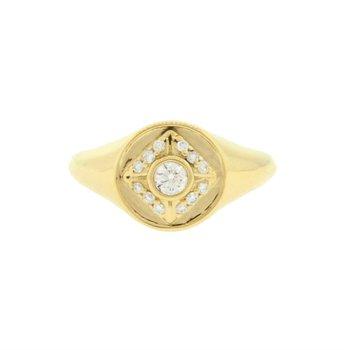 Icon Circle Signet Ring