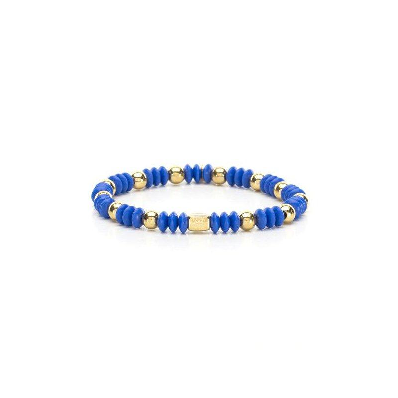 Rustic Cuff Bev Bracelet in Cobalt and Gold