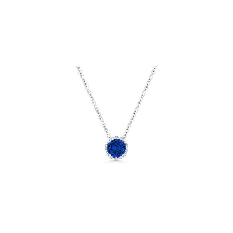 Kelley Collection  Sapphire & Diamond Halo Pendant