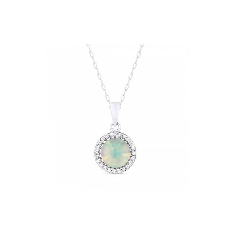 Kelley Collection  Opal & Diamond Pendant