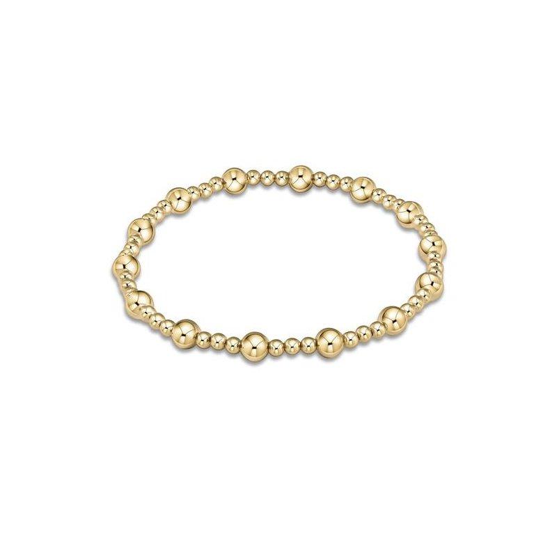 ENewton Design Classic Sincerity Pattern 5mm Bead Bracelet - Gold