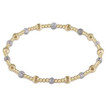 Dignity Sincerity Pattern Bead Bracelet - Labradorite