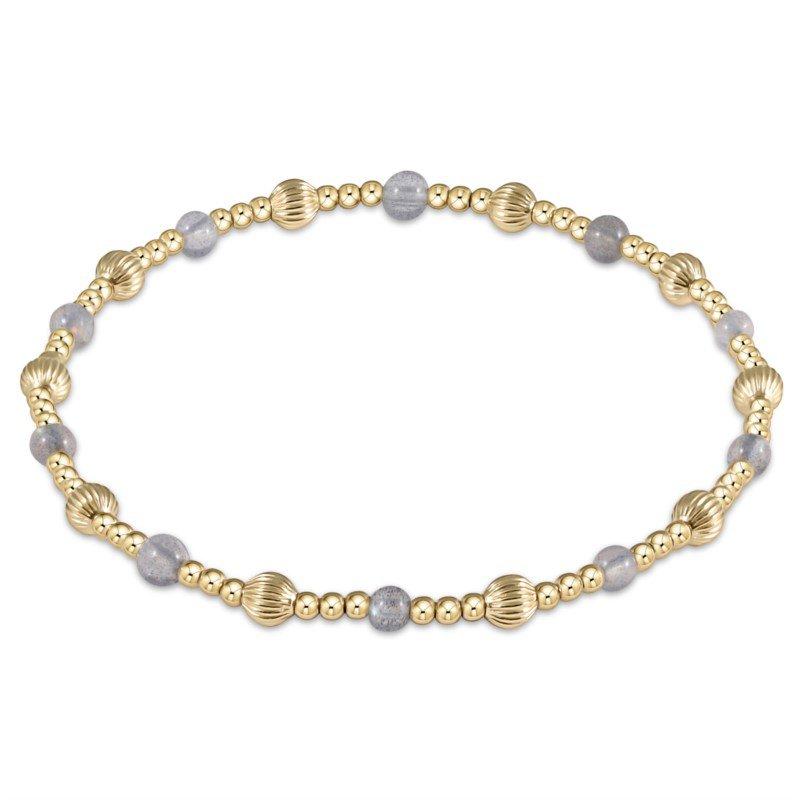 ENewton Design Dignity Sincerity Pattern Bead Bracelet - Labradorite