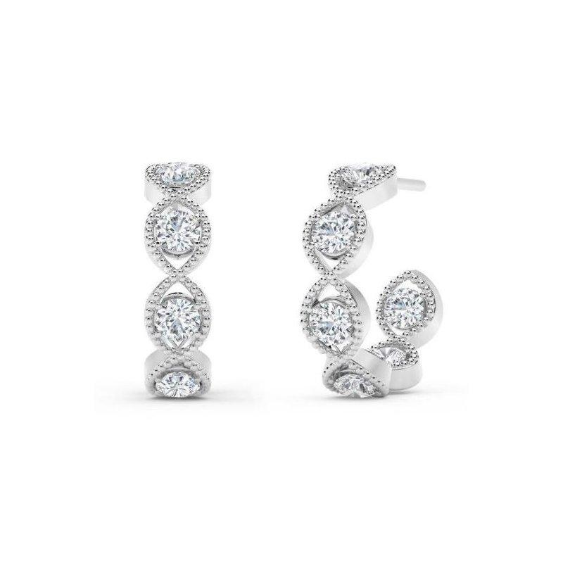 Natalie K (M.K. Diamonds & Jewelry) Braided Hoop Earrings