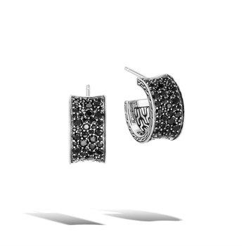 Extra Small Pavé J Hoop Earrings