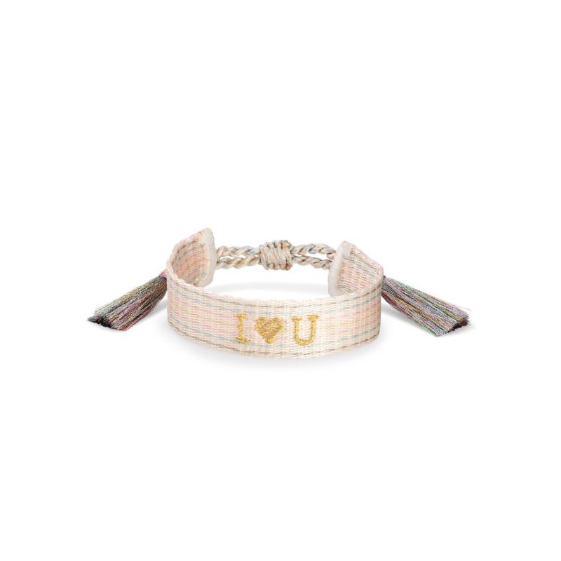 Kendra Scott I Heart You Friendship Bracelet In Neutral Pastel Mix