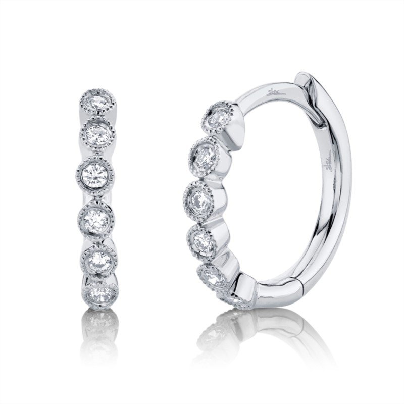 Kelley Collection  Diamond Huggie Earrings
