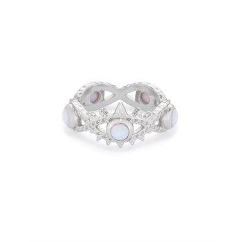 Gemma in White Opal (Size 8)