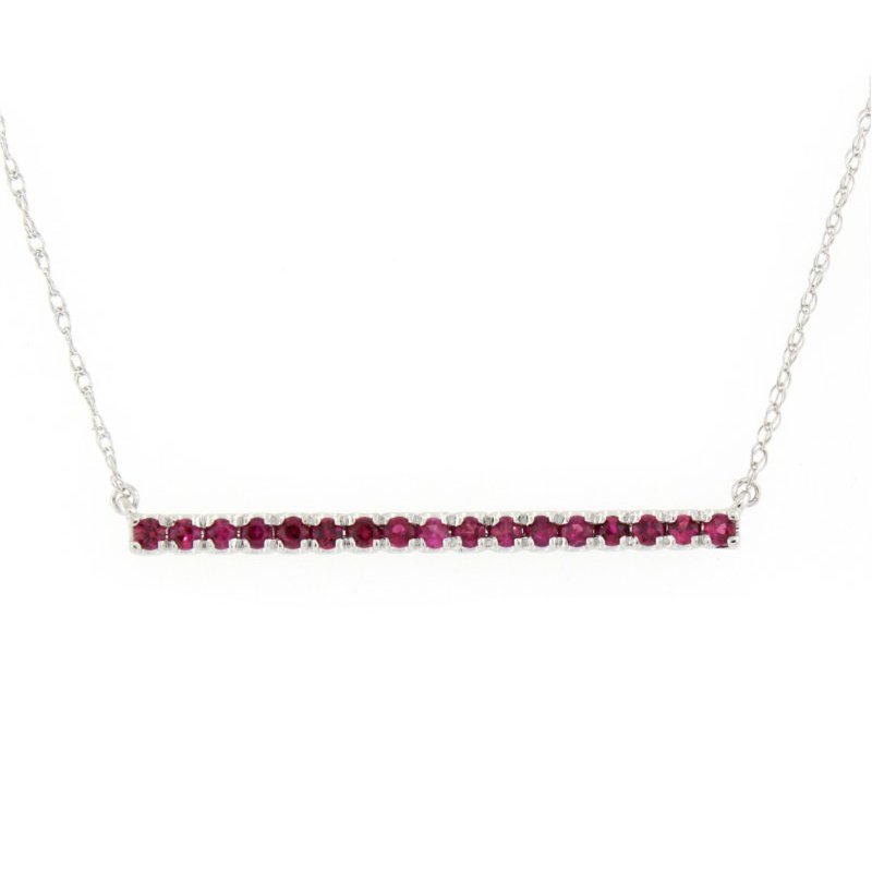 Kelley Collection  Ruby Bar Necklace