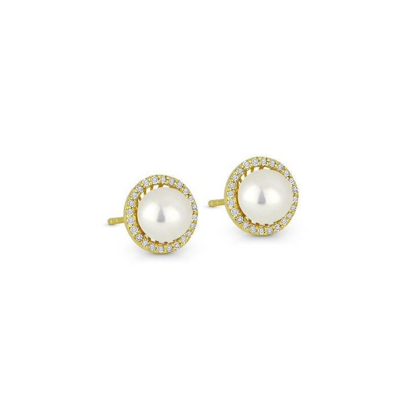 Kelley Collection  Pearl & Diamond Earrings