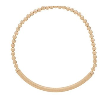 Bliss Bar Textured 3mm Bead Bracelet - Gold