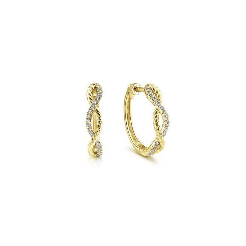Gabriel NY Fine Jewelry Diamond Huggie Earrings
