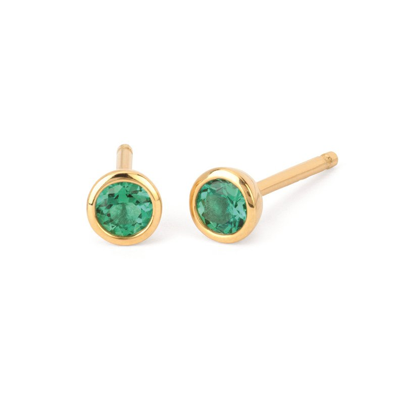 Kelley Collection  Emerald Studs