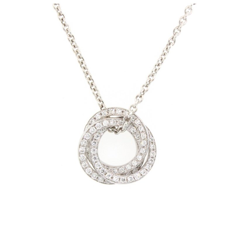 Kelley Collection  Diamond Interlocking Circle Pendant