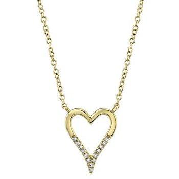 Open Heart Diamond Necklace