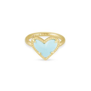 Ari Heart in Light Blue Magnesite