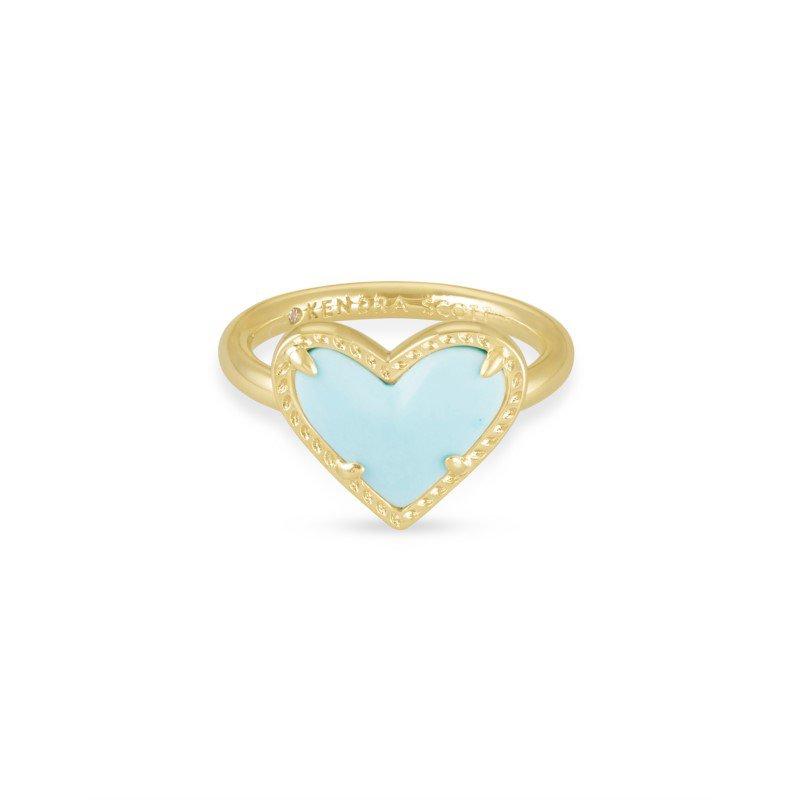 Kendra Scott Ari Heart in Light Blue Magnesite