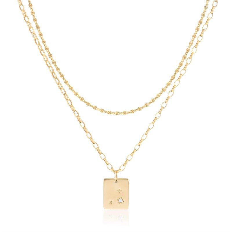 Ela Rae Jewelry, LLC Double Layer ~7C Starburst Dog Tag