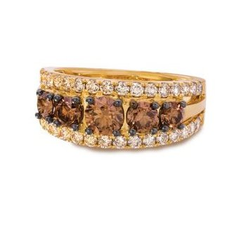 14K Honey Gold™ Chocolate Diamond® Ring