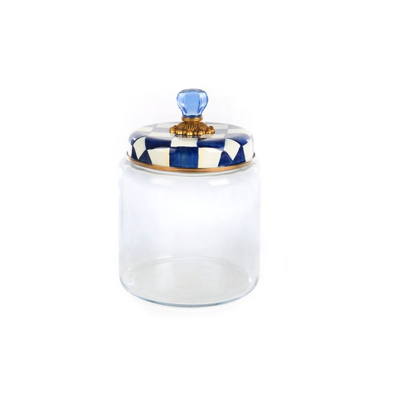 MacKenzie-Childs Royal Check Kitchen Canister - Large