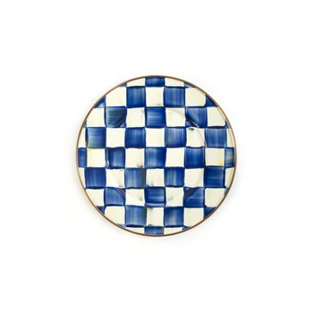 Royal Check Enamel Salad/Dessert Plate
