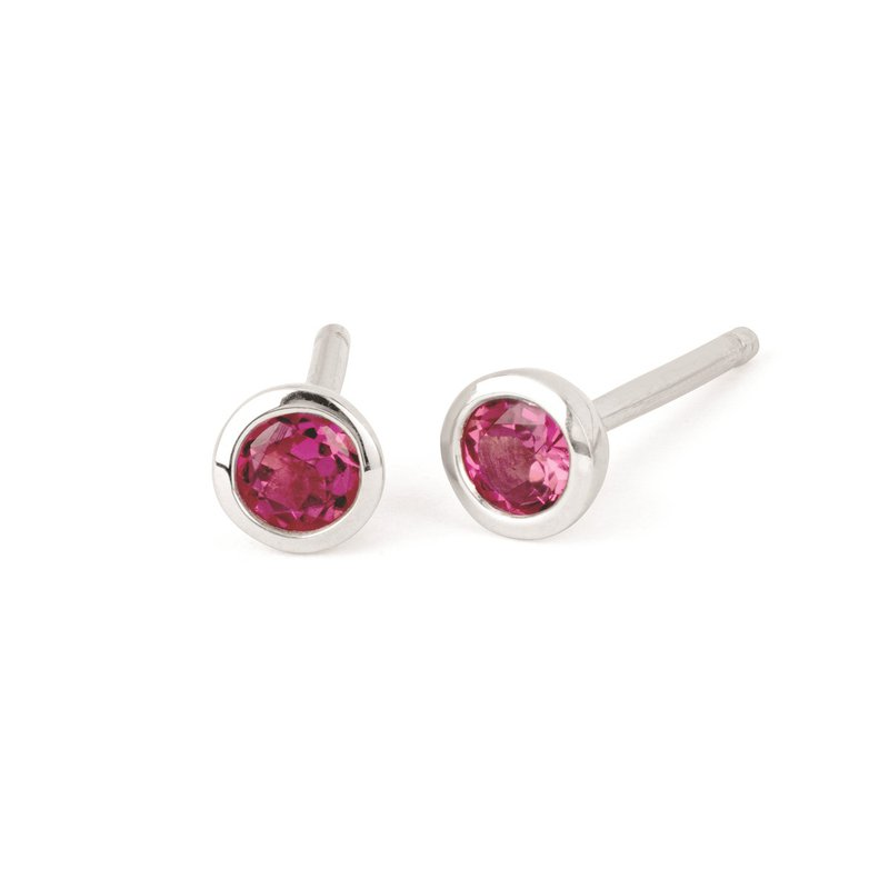 Kelley Collection  Pink Tourmaline Studs