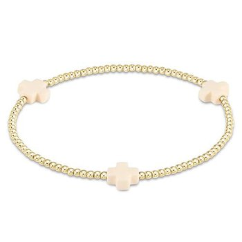 Signature Cross Pattern Bracelet - Off White
