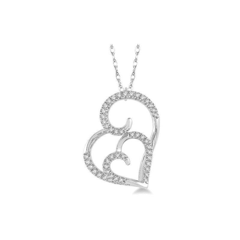Kelley Collection  Diamond Double Heart Pendant