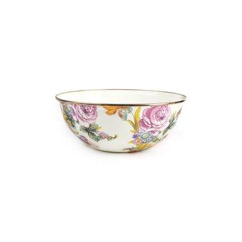 Flower Market Medium Everyday Bowl - White