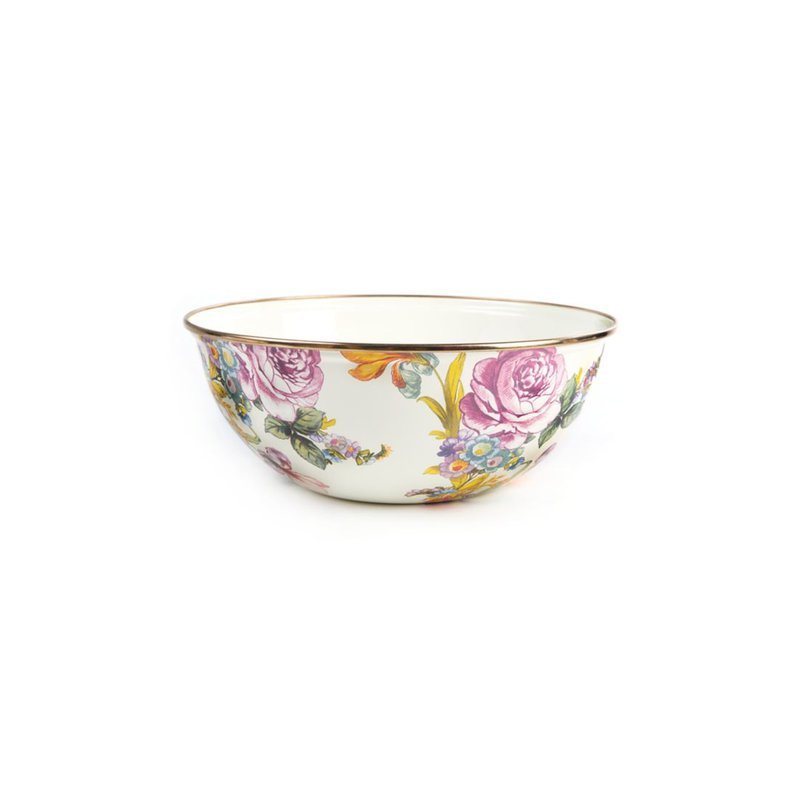 MacKenzie-Childs Flower Market Medium Everyday Bowl - White