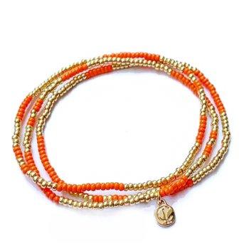 Boardwalk Bracelet Set - Clementine