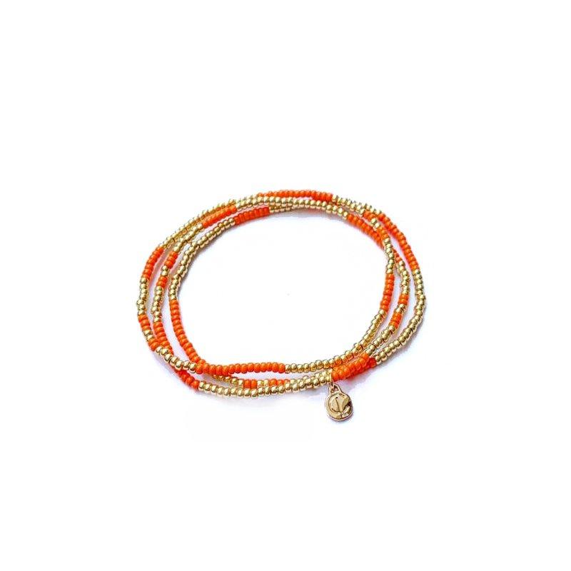 Caryn Lawn Boardwalk Bracelet Set - Clementine