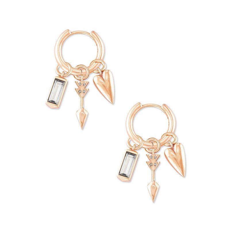 Kendra Scott Zoey Huggie in Rose Gold