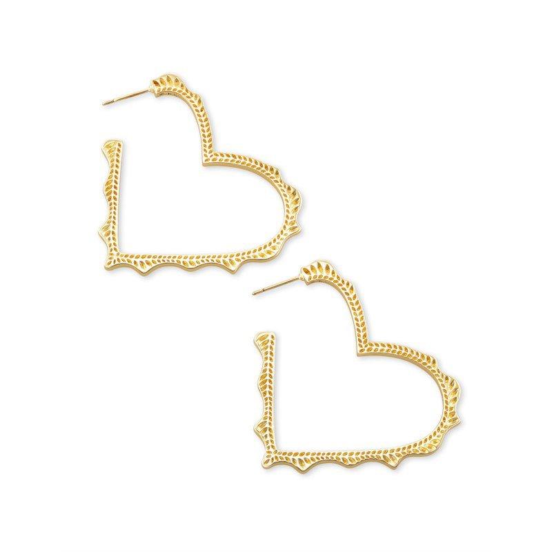Kendra Scott Sophee Heart in Gold