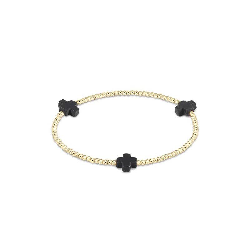 ENewton Design Signature Cross Pattern Bracelet - Charcoal